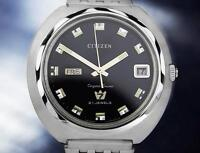 Citizen Crystal Seven Rare Vintage 1970s Jumbo Mens Automatic Watch TD726