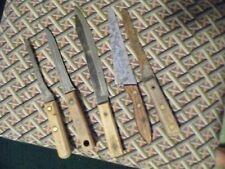 5 vintage Unknown Manufacturer Steel Knives