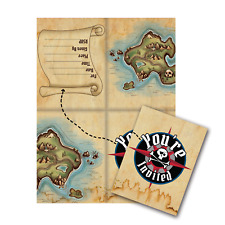 Pirate Party Invitations Invites Birthday Party Favor Decoration Supply