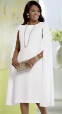 Sz 22W PLUS Ashro Catalog Ivory Formal Wedding Dinner Party Victoria Cape Dress