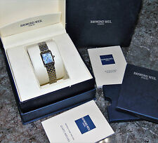 RARE RAYMOND WEIL DON GIOVANNI 5875 DIAMOND DIAL  WOMENS WATCH BOX AND BOOKLETS