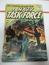 Navy Task Force #5 (Aug 1955, Stanley Morse) BATTLE COVER