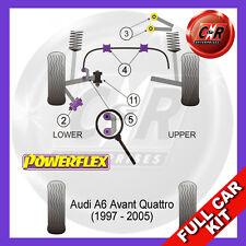 Audi A6 Avant 4WD 97-05 Powerflex Full Kit Frt Upper Arm-Chass Bushes Camber Adj