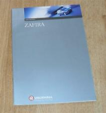 Vauxhall Zafira Brochure 1999 - Comfort Elegance 1.6 16v 1.8 16v 2.0 DI 16v