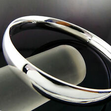 FSA858 GENUINE REAL 925 STERLING SILVER S/F SOLID CUFF GOLF BRACELET BANGLE