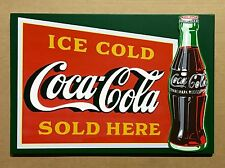Coca-Cola Ice Cold Here - Wooden Sign
