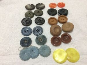12 Pairs 1inch Vintage Buttons