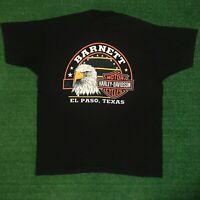 Vintage 1998 Harley Davidson Motorcycles BARNETT El Paso Texas Tshirt Size XL