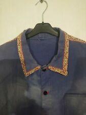 ancienne veste de travail bleue / C 316