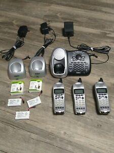 Uniden PowerMax 2.4GHz DCT6485 3 Handset Cordless Home Office Phone  System EUC