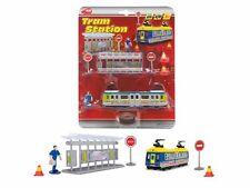 DICKIE ® 203343001 Tram Station, 2-sort. Straßenbahn Haltestelle