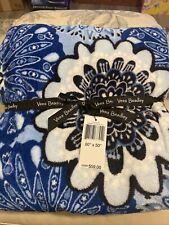 "New! Vera Bradley Throw Blanket ~ 80"" x 50"" Blue Star Med ~ Soft And Cozy ($59)"