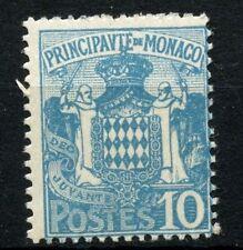 Monaco 1924 SG#77, 10c Light Blue Arms MNH #A58358