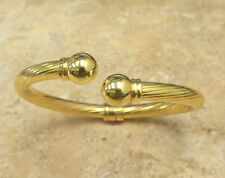 "TECHNIBOND VERMEIL POLISHED TWISTED CUFF 6-1/4"" BRACELET HSN SOLD OUT"