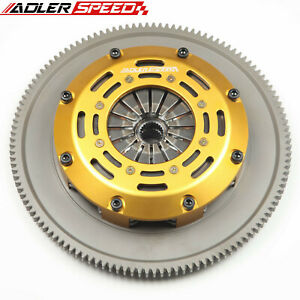 ADLERSPEED RACING CLUTCH TWIN DISC KIT for 2004-2018 SUBARU WRX STI EJ25 6 SPEED