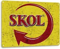 Skol Brazilian Beer Retro Logo Bar Man Cave Garage Wall Decor Metal Tin Sign