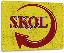 Skol Brazilian Beer Retro Logo Bar Man Cave Garage Wall Decor Metal Tin Sign