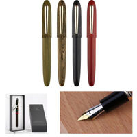 Moonman M6 Handmade Natural Wood Fountain Writing Pen Fine Nib F/0.5mm Gift #cp