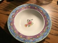 """7 Sango Birds And The Bees 8 3/4"""" Rimmed Soup Bowls  Sue Zipin # 3042"""