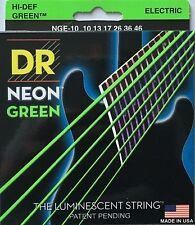DR Neon GREEN Electric Guitar Strings gauges 10-46