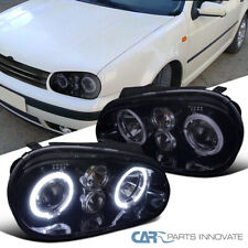 New!! Glossy Black For 99-06 Golf GTI R32 Mk4 Smoke Halo Projector Headlights