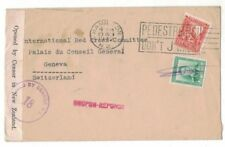 1942 New Zealand cover to Red Cross - Switzerland, censor in NZ