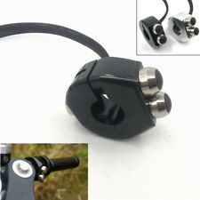 Black CNC Switch Motorcycle Handlebar Button Latch / Momentary Cafe Racer Custom