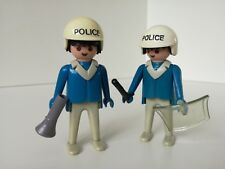 Playmobil Figure - Two decolored police men (Loose)