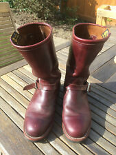 Chippewa Engineer Boots UK 9 Cordovan EU 43.5