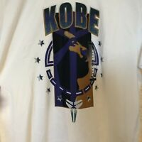 Nike Kobe Bryant Dri-FiT White Logo Mamba T-Shirt  Dri-Fit AJ9687-100 Sz M New