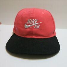 Nike SB Youth Flat-brim Hat Cap Snapback Coral Pink Black Swoosh NWOT