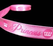 "5 Yds Pink Princess Girly Scrapbook Satin Ribbon 5/8""W"