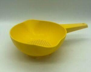 Vintage Tupperware Yellow Colander/Strainer 1200-11