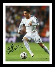 CRISTIANO RONALDO - REAL MADRID AUTOGRAPHED SIGNED & FRAMED PP POSTER PHOTO