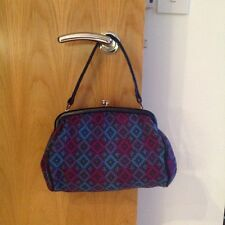 WELSH TAPESTRY VINTAGE BAG 60's 70's WOOLLEN BEAUTIFUL CONDITION WOOL