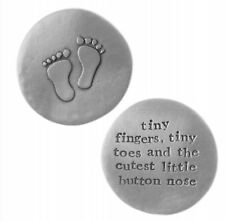 Pewter Keepsake Token - Baby - Baby Feet