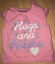 Baby girls pink t-shirt for 0-3 months from Mothercare - excellent condition