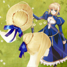 Japan Anime Fate stay night Saber Lily Cosplay Wig+Gift Hairnet
