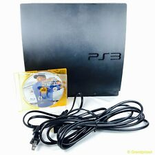 Sony PS3 Console Slim Black 160GB With Game & Cables Bundle CECH-3001A Working