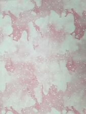 """New, 100% Cotton, 44"""", Fabric Traditions, Shades of Pink and White Splatters"""