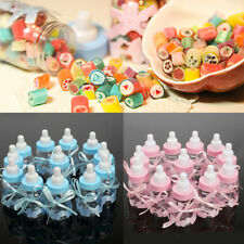 12X Fillable Bottles for Baby Shower Favors Blue Pink Party Decorations Girl