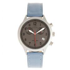 57d1f363251f Elevon Antoine Cronógrafo Cuero Azul Plata Hombres Reloj con Fecha ELE113-5