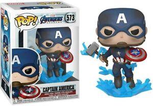 Funko Captain America Avec Cassé Bouclier Pop Vinyle Marvel Figurine Neuf Boîte