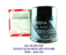 OIL FILTER ELEMENT FOR TOYOTA HILUX REVO SR5 M70 M80 2015 16 GENUINE 90915-YZZD2