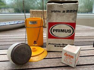Vintage Primus Sievert 2220 gas camping lantern original box spare mantle
