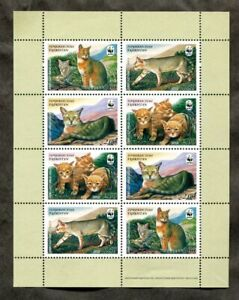 x365 - TAJIKISTAN 2002 WWF Souvenir Sheet. CATS. Unmounted MNH