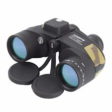 7X50 Military Marine Floating Army Binoculars Waterproof With Rangefiner Compass