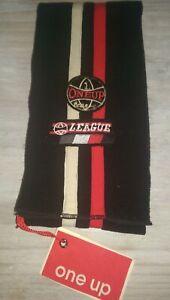 New One Up Designer retro soft black fleece baby boys scarf Rrp£21.99 6m+ BNWT