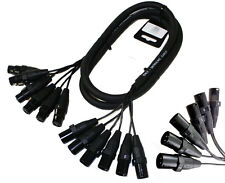 6 Channel XLR Snake Cable 6 Foot PA Pro Audio Patch Stage Cord Mixer EMB USA