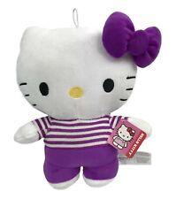 """Super Süß Freizeit Hello Kitty 11 """" Plüsch Puppe Spielzeug - Lila Streifen"""